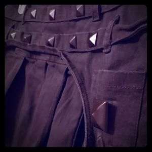Studded + Pleated Gothic Skirt